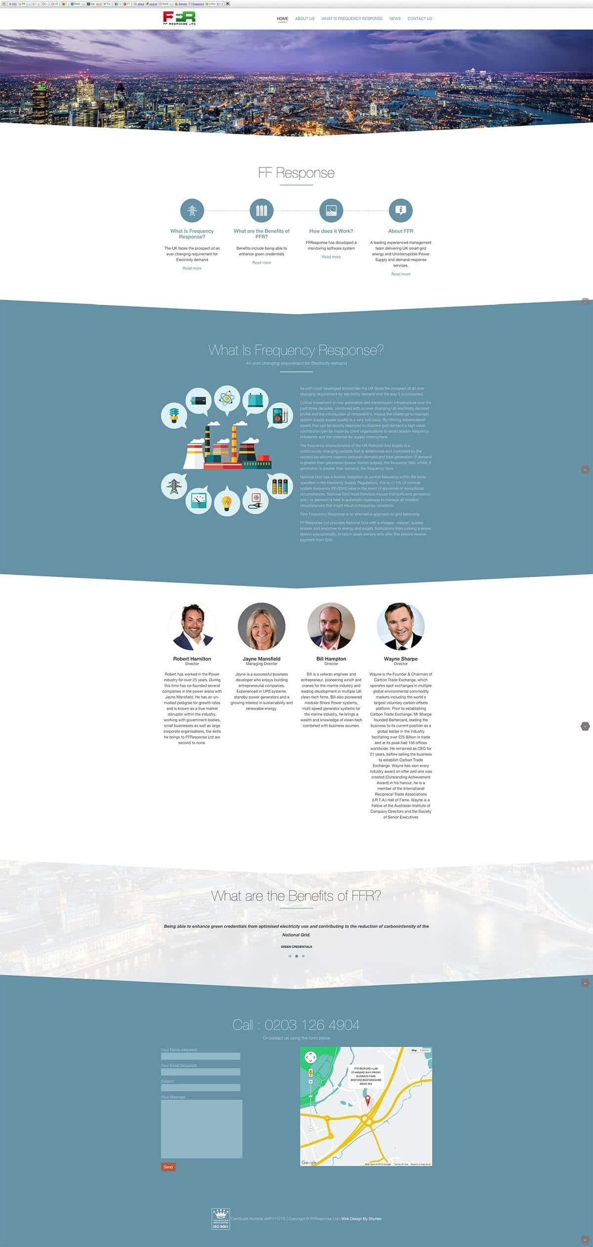 About FFR | Shynee Web Design