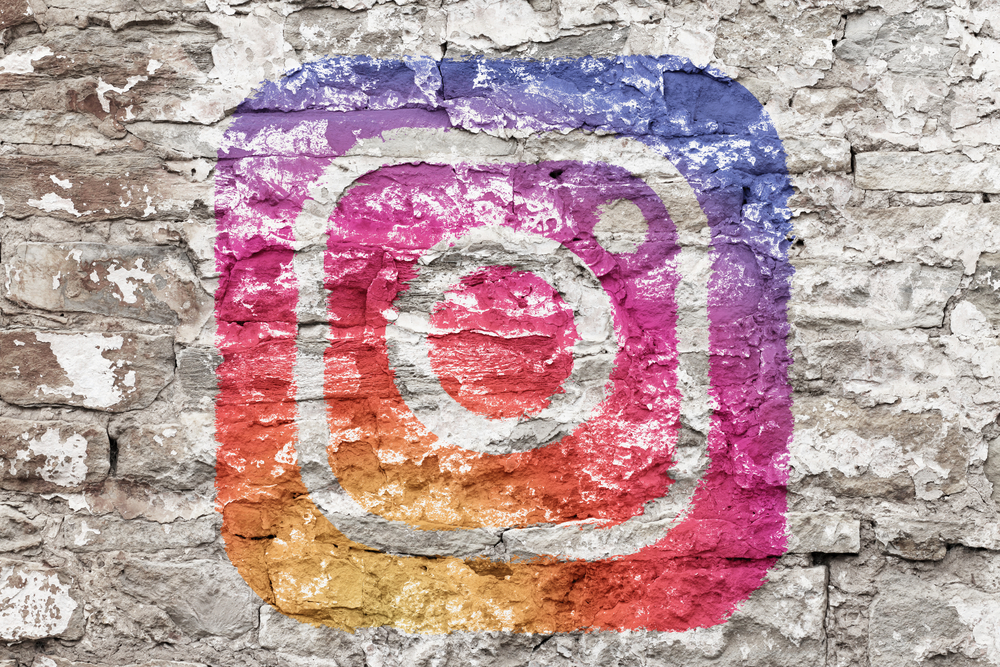 instagram icon on the wall