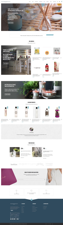 home fragrance webpage