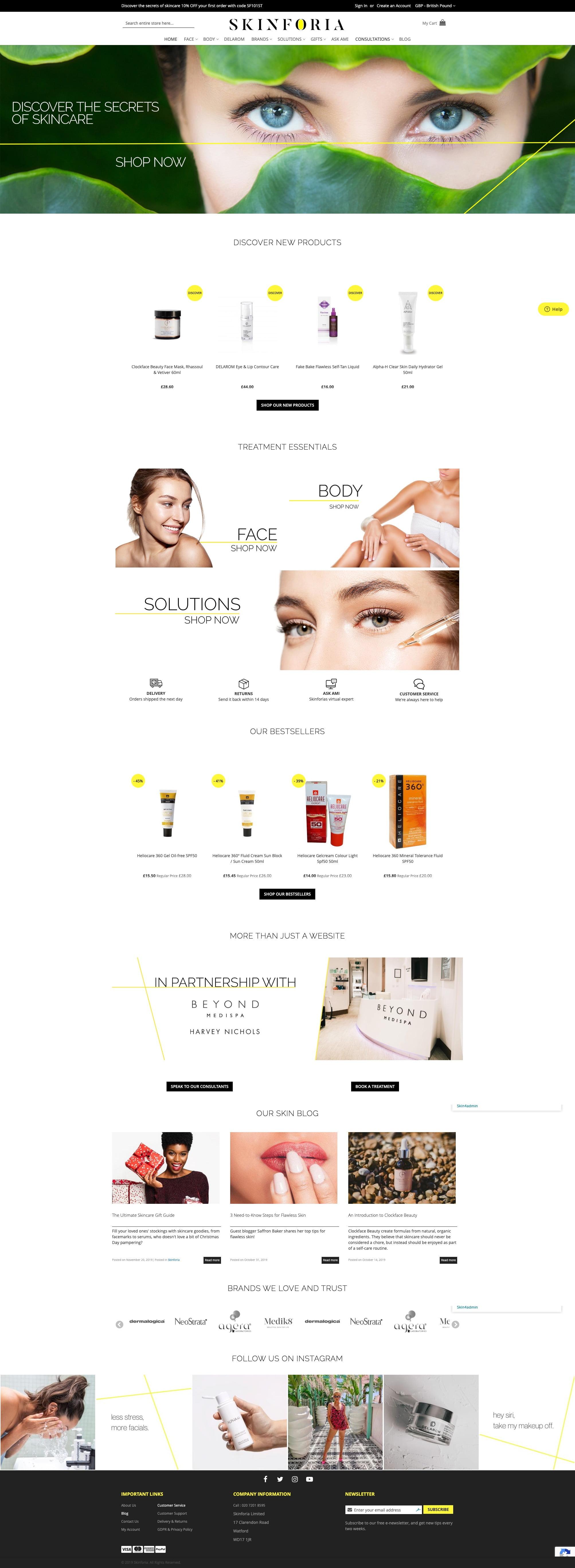 Skinforia Web Design | Shynee
