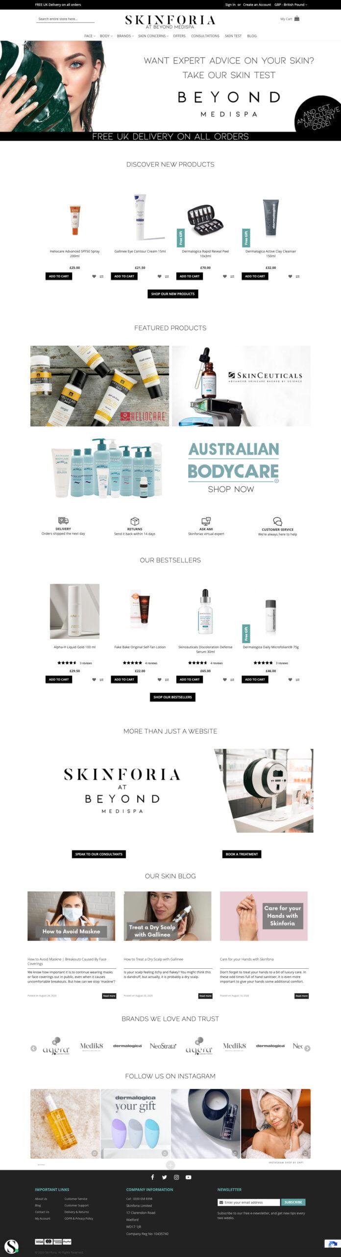 Skinforia | Shynee Web Design