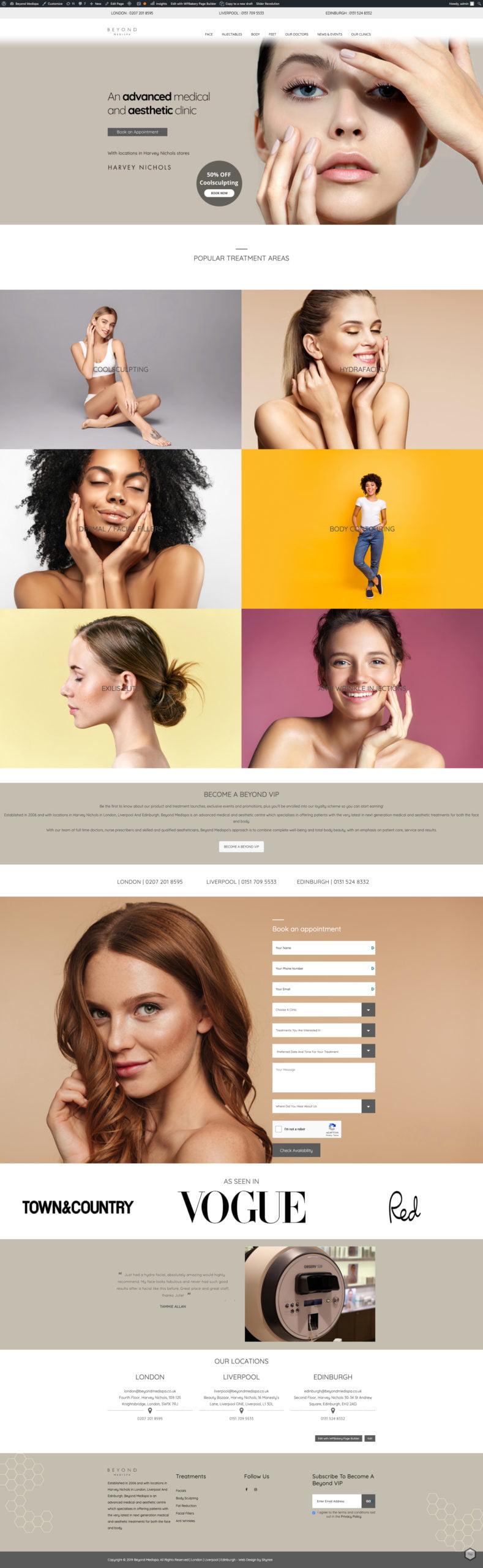 Beyond MediSpa | Portfolio | Shynee Web Design