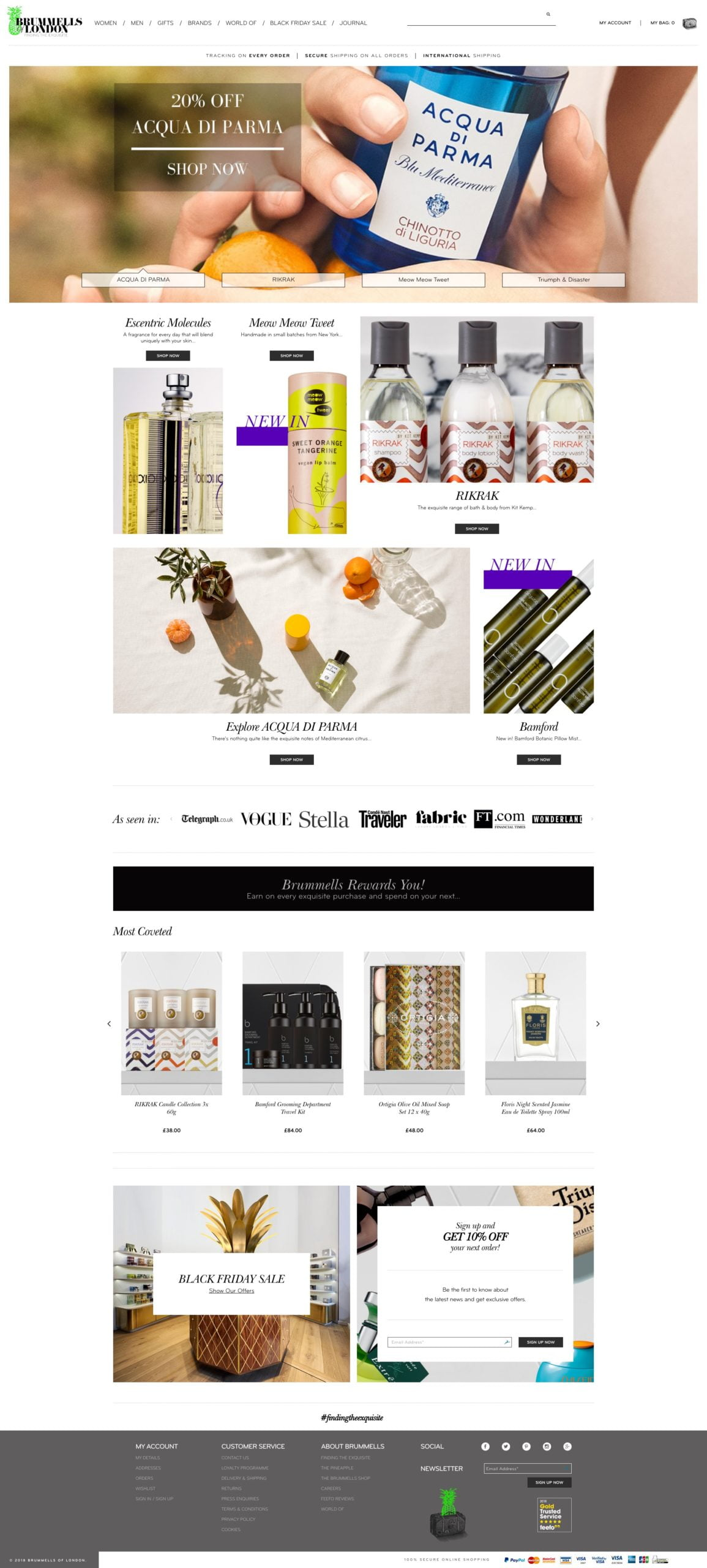Brummells of London | ECommerce | Shynee